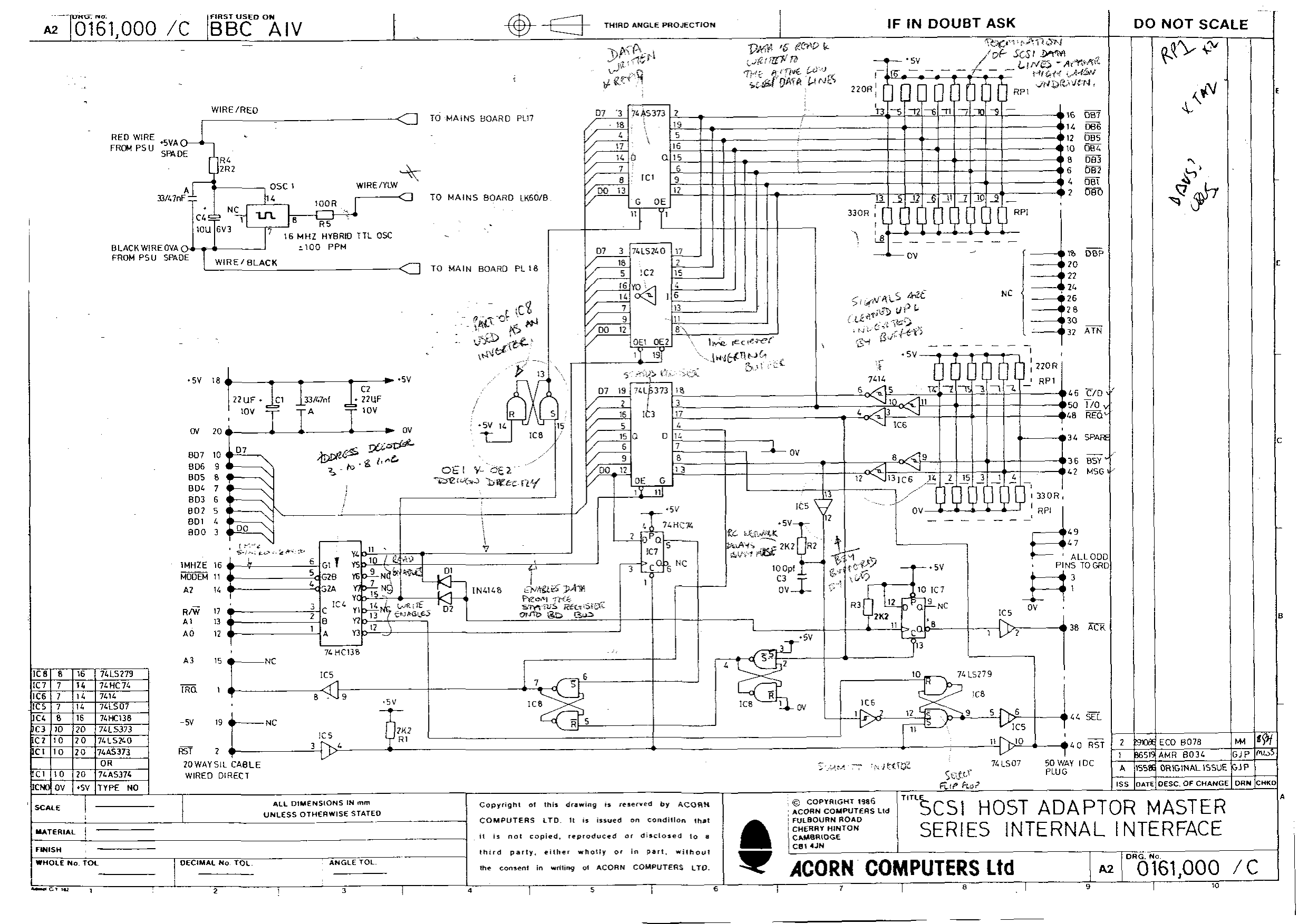 Acorn Aiv Scsi Host Adapter Genlock Wiring Diagram Schematic