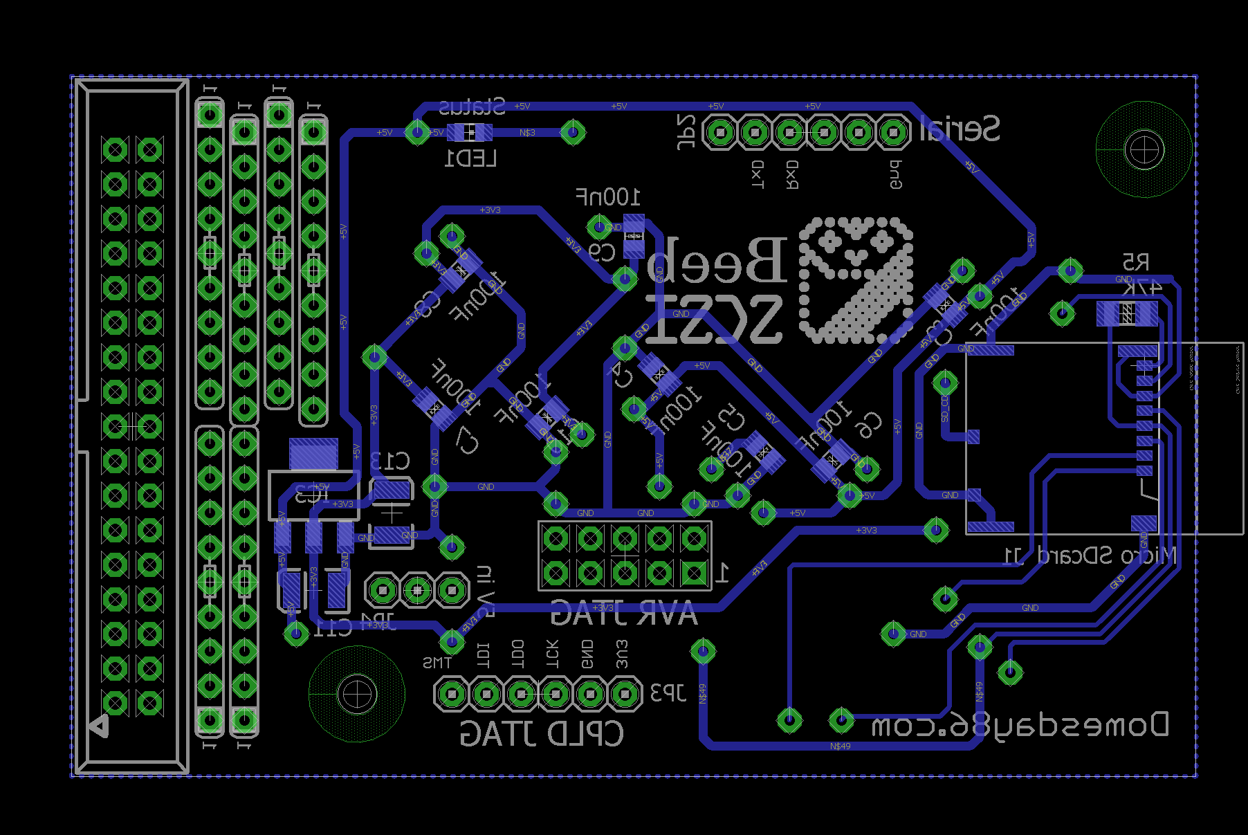 beebscsi pcb 7_5 bottom